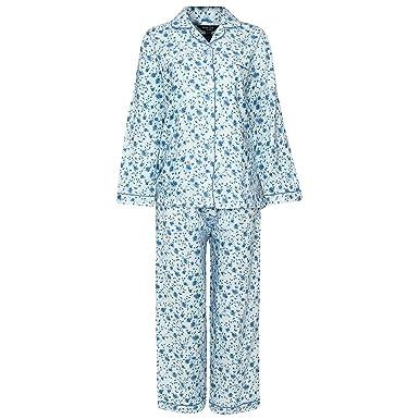 chaussures de sport 96e9b 33de7 New Womens Ladies Pyjamas Set Winceyette Brushed Cotton Flannel Floral PJS  Warmth UK 12-24