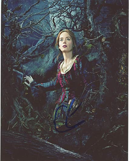 Emily Blunt signed 8x10 photo at Amazon's Entertainment