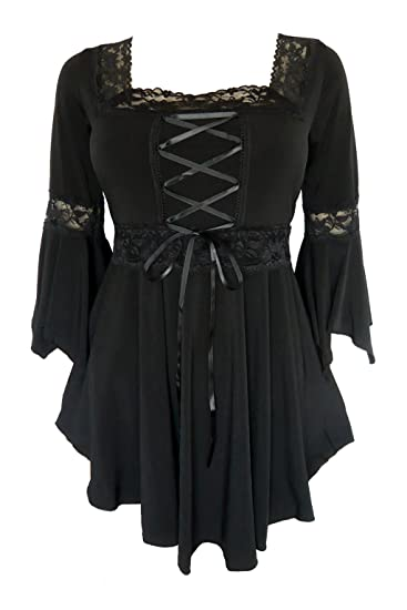 Amazon Dare To Wear Victorian Gothic Peasant Womens Plus Size
