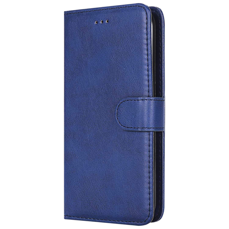 Flip Leder Handyh/ülle Tasche mit Kartensfach Bear Village/® H/ülle f/ür LG K10 2017 Blau 360 Grad Voll Schutz TPU Innere Ledertasche