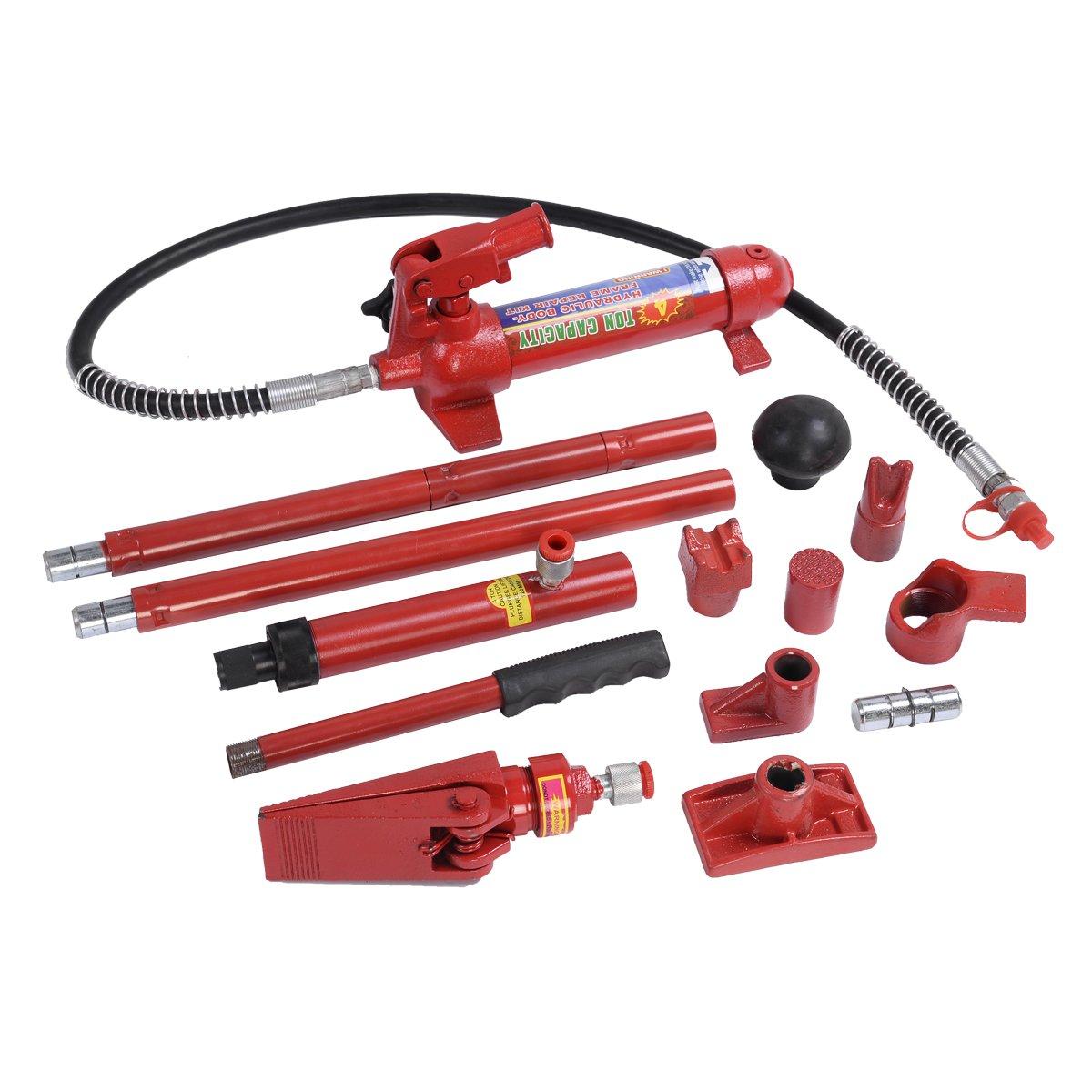 Goplus 4 Ton Porta Power Hydraulic Jack Body Frame Repair Kit Auto Shop Tool Heavy Set w/ Carrying Case by Goplus (Image #5)