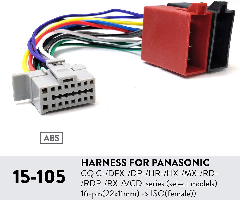 hr wiring harness amazon com ugar 15 105 harness for panasonic cq c dfx dp hr  ugar 15 105 harness for panasonic cq
