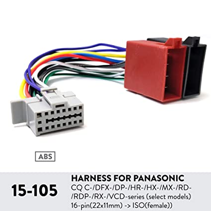 Wondrous Amazon Com Ugar 15 105 Harness For Panasonic Cq C Dfx Dp Hr Hx Wiring 101 Capemaxxcnl