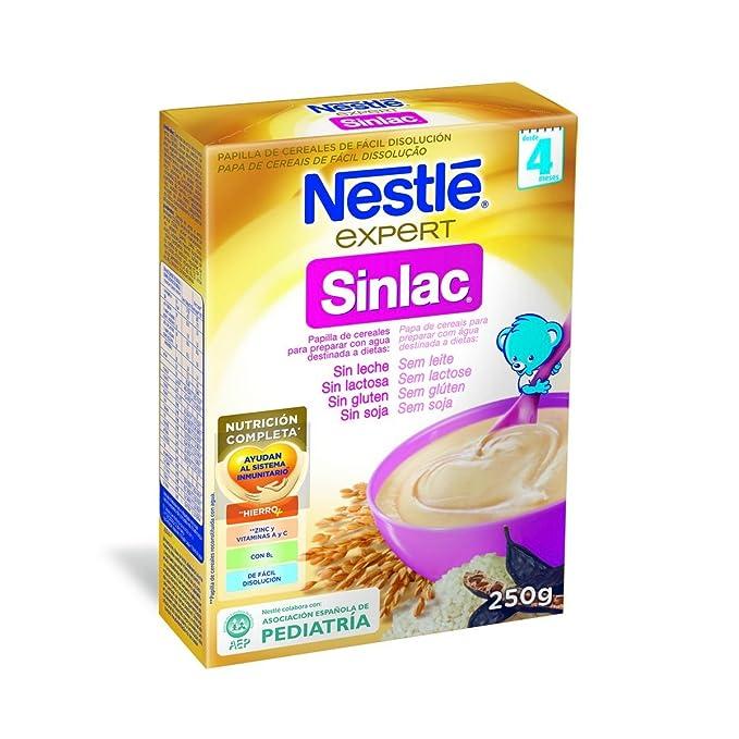 Nestlé Papillas SINLAC, Cereales para bebé - 250 gr.
