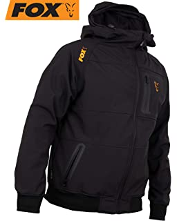 Anglerpullover Schwarz//Orange Pullover mit Kapuze Angelpullover Fox Black//Orange Hoodie Kapuzenpullover