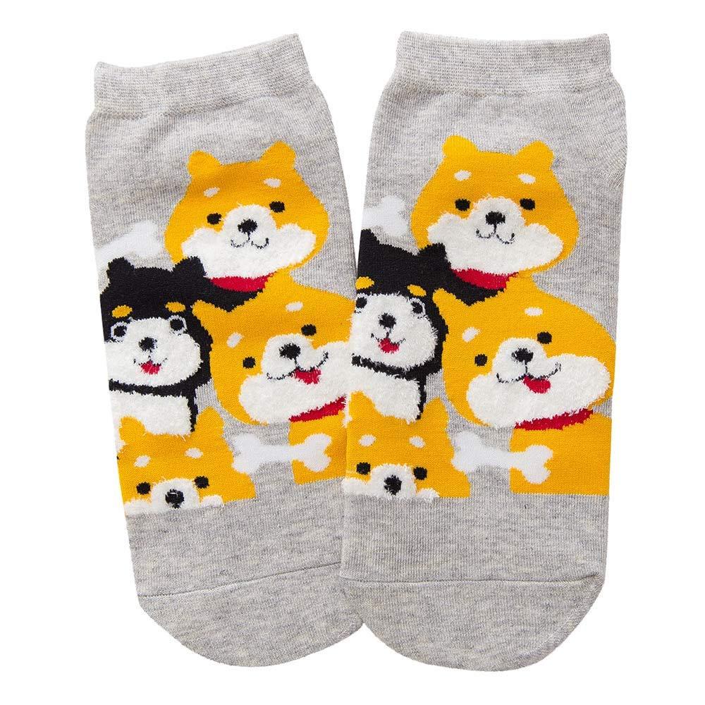 Oldeagle 1 Pair Women Cute Dog Winter Cotton Warm Socks Home Soft Socks