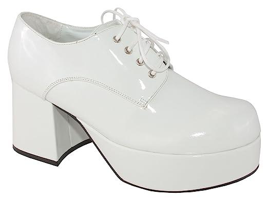 539d93443d077 Amazon.com: Pimp Adult Costume Shoes White - Large: Clothing