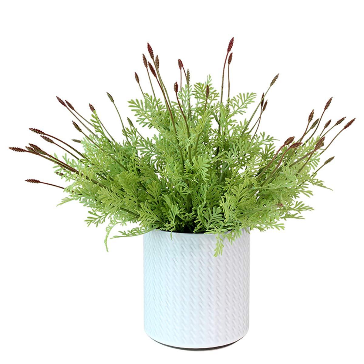 marlles人工フェイクプラスチック低木Greenery植物Cedar Bushes花フィラーインドア外側ホームガーデンOfficeベランダ飾り 2 Pcs グリーン MLLS-TLO-OGR B07D4MQ3HT  2 Pcs