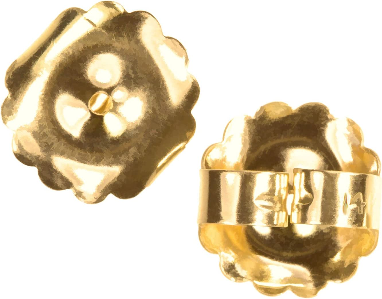 14K Gold Jumbo Earring Back Premium Extra-Jumbo Swirl 10mm 1-Pair