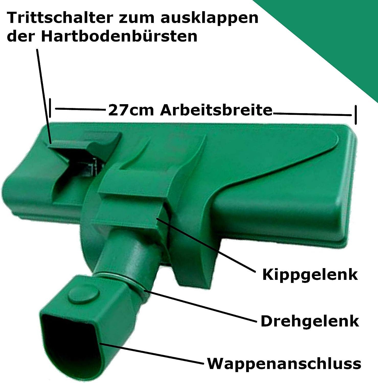 Maxorado Boquilla de aspiradora conmutable para Suelo y Suelos Duros Compatible con Vorwerk Kobold 118 119 120 121 122 Tiger 250 252 VT VT250 VT251 Cobold