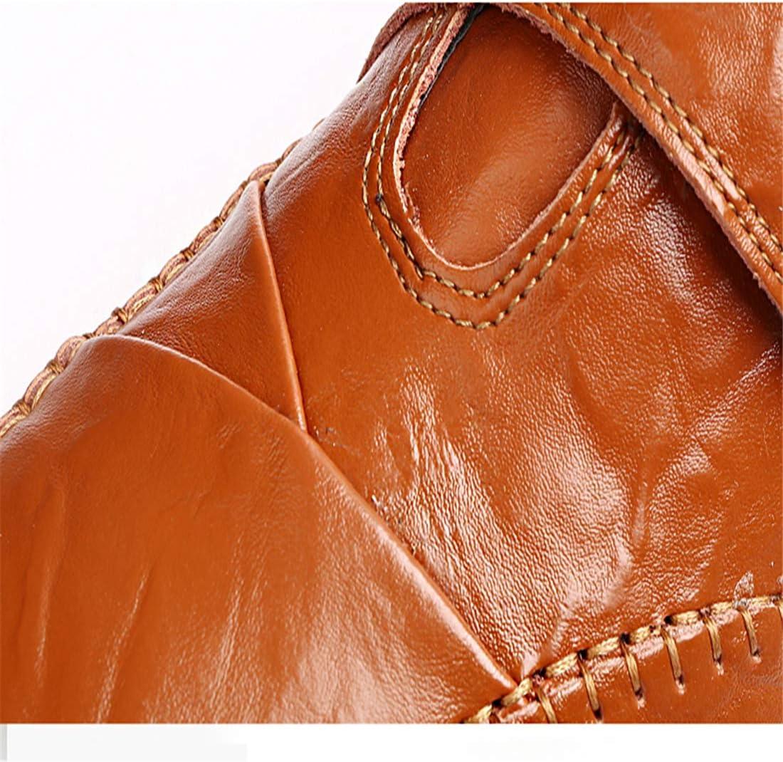 HMJ Chaussures Chaudes pour Hommes Chaussures décontractées pour Hommes Chaussures d'hiver en Cuir en Peluche 8899 noir