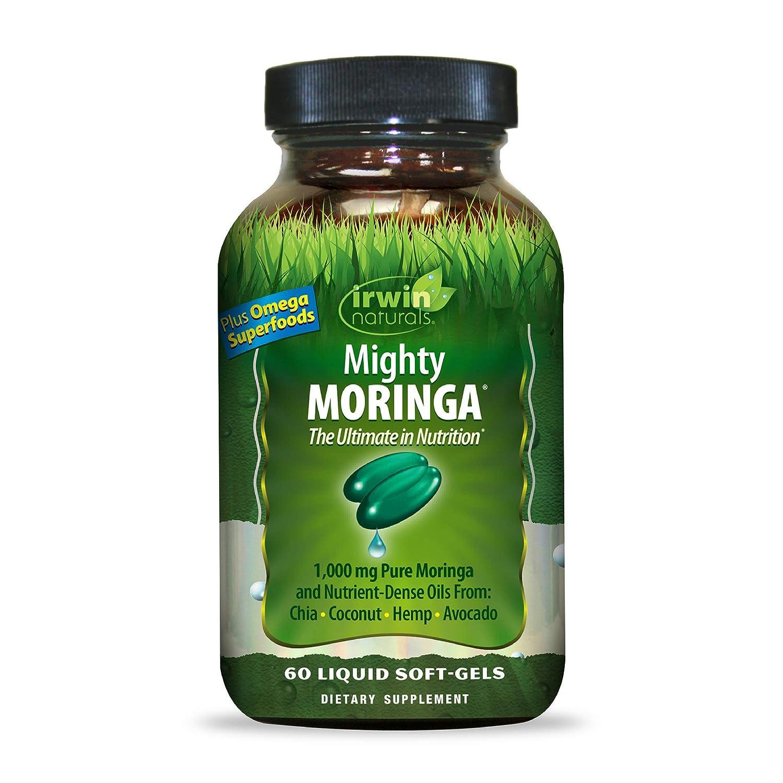 Irwin Naturals Mighty Moringa Diet Supplement, 1000mg, 60 Count ...