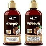 WOW Coconut Milk Shampoo and Conditioner Set (2 x 16.9 Fl Oz / 500mL - DHT Blockers Slow Down Hair Loss - Essential…