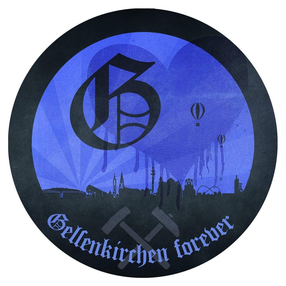 plus gratis Aufkleber forever Gelsenkirchen FC Schalke 04 Kapuzen Sweat-Shirt Schuh S04