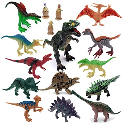 Action Figures Toys & Hobbies Dinosaur Toy Play Set Jumbo Animal Kids Toddler Pretend Figures 5 Piece New