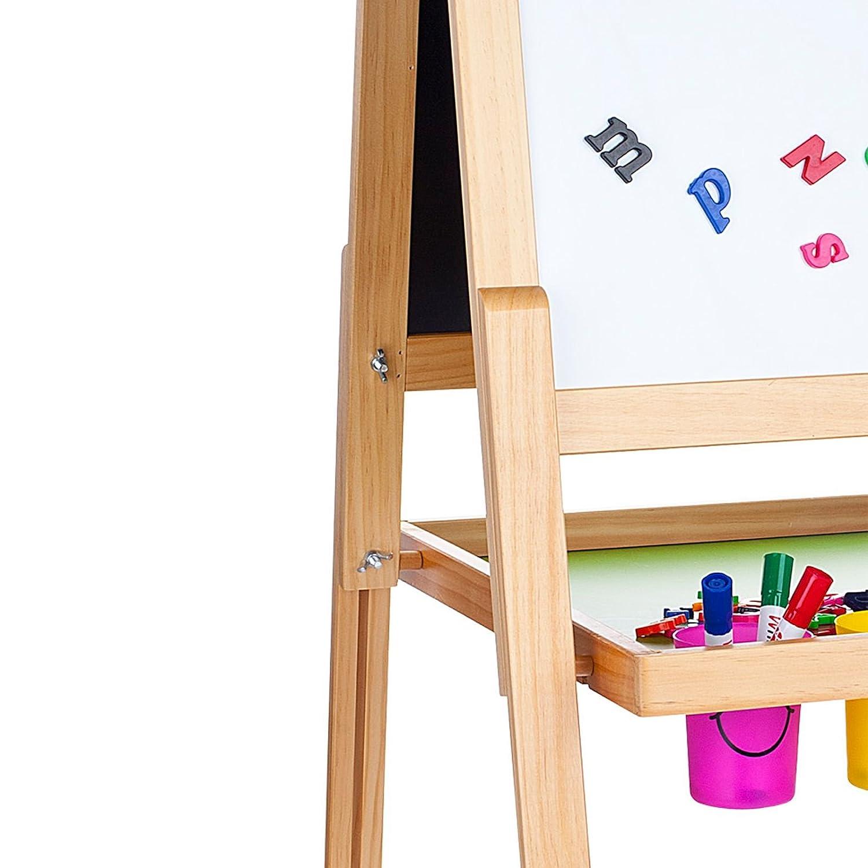 Leomark Deluxe Pizarra Infantil 2 En 1 Pizarra Para Pintar Pizarra Magnética De Madera Tablero De Dibujo Educación Junta Bandeja De Almacenamiento ...