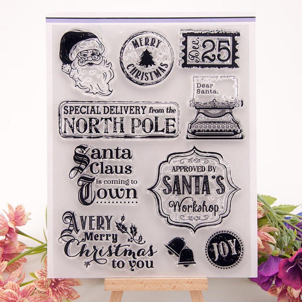 perfetto per la carta di invito notebook di auguri fai da te Timbro sigillo in gomma siliconica per Yiyilam mare trasparente per album fai da te scrapbooking foto carta decor