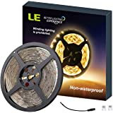LE Flexible LED Strip Lights, 300 Units SMD 3528 LEDs, 5m 12V DC Non-waterproof Light Strips, LED ribbon, Garden Home Kitchen Car Bar DIY Party Decoration Lighting, Warm White