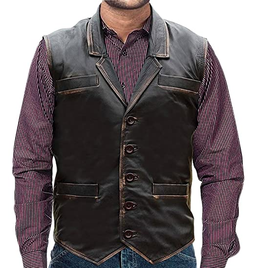 2ab95008b6555 Finest Collections Hell On wheels Cullen Bohannan Real Leather Vest (XXS