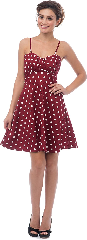 f845641bd2e PacificPlex 50 s Retro Rockabilly Polkadot Dress Sundress at Amazon Women s  Clothing store  Dresses