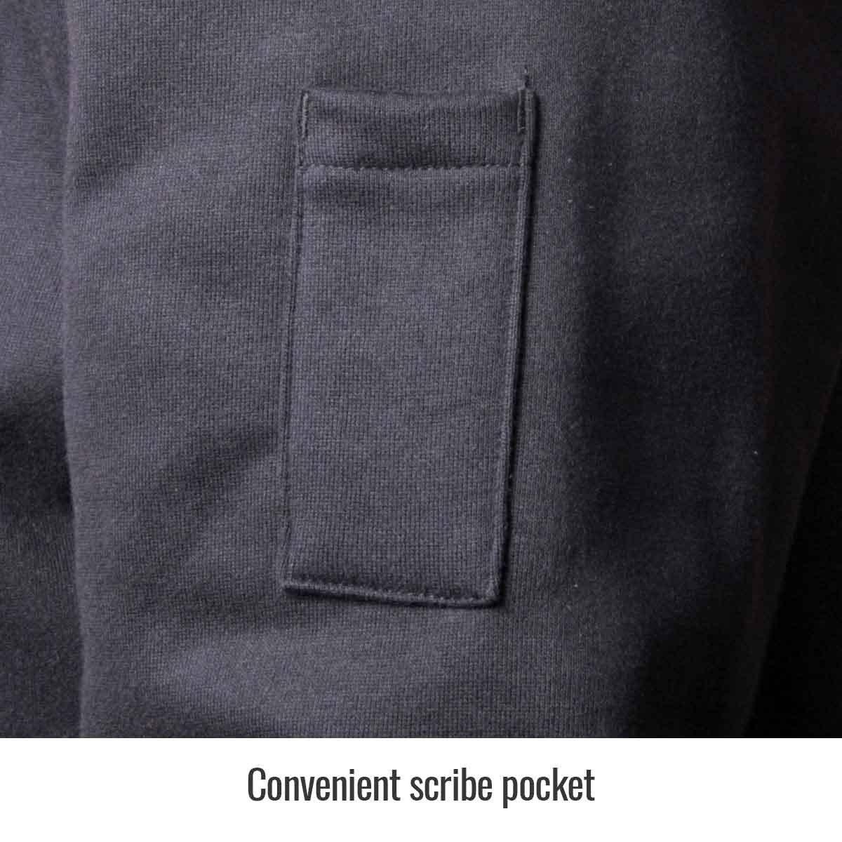 REVCO/BLACK STALLION JF1331 - Large Truguard Cotton Hooded Sweatshirt, Black by REVCO/BLACK STALLION (Image #4)