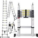 EN131 16.5FT Aluminum Telescoping Telescopic Extension Ladder Tall Multi Purpose