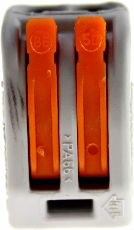 412-lever-clamp-2-way-connectors-terminals-pack de 1//à 100 Wago-221 orange