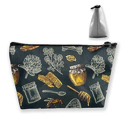 Honey Bee Hive Clover Spoon Mujeres Bolsas de cosméticos ...