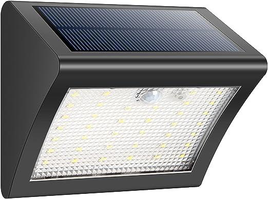 HETP Luces solares 38LED Luz solar Seguridad Lámparas IP65 Impermeable 120 Ángulo Detector Sensor de movimiento inalámbrico Luz exterior para jardín, Cerca, Patio, Entrada, Escaleras, Pared exterior: Amazon.es: Iluminación