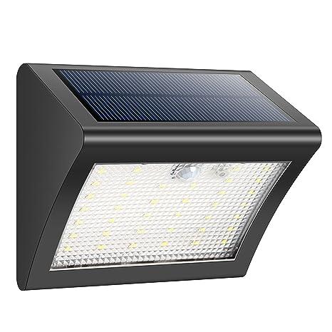 HETP Luces solares 38LED Luz solar Seguridad Lámparas IP65 Impermeable 120 Ángulo Detector Sensor de movimiento