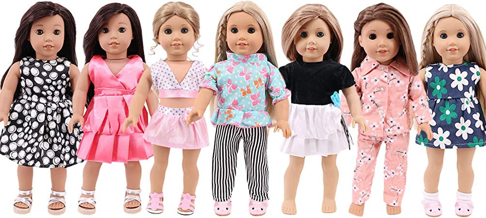 """18/"""" Inch American Girl Doll Clothes Accessories Vintage print dress jumpsuit"""