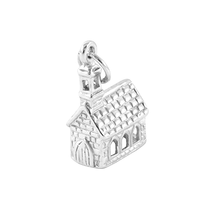 TheCharmWorks Sterling Silver Church Charm kUXXwor5