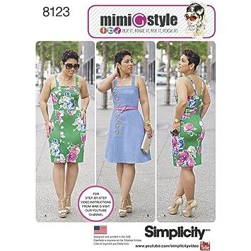 Simplicity Schnittmuster 8123 Misses und Plus Größe Kleider von Mimi ...