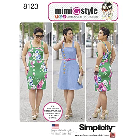 Simplicity Pattern 8123 Misses And Plus Size Dresses From Mimi G
