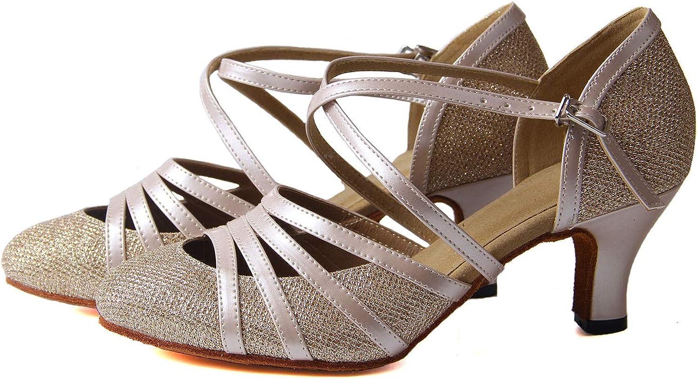 Souliers de Danse Femme Ballroom Latin Shoes Party Evening 6cm