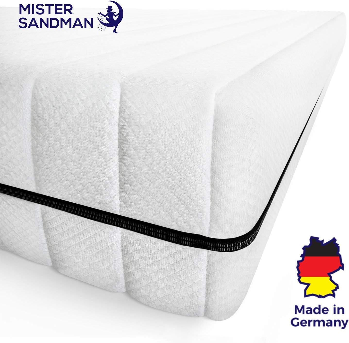 Hauteur 15 cm 60 x 120 cm, H2 - Microfibre Housse Lavable de qualit/é Oeko TEX Mister Sandman Matelas Mousse Confort 7 Zones pour Un Sommeil Tout lit//sommier