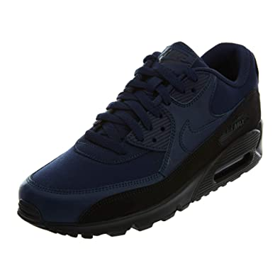 get cheap 4daf9 faf96 Image Unavailable. Image not available for. Color  NIKE AJ1285-007  Mens  Air Max 90 Essential Black Navy Sneakers ...