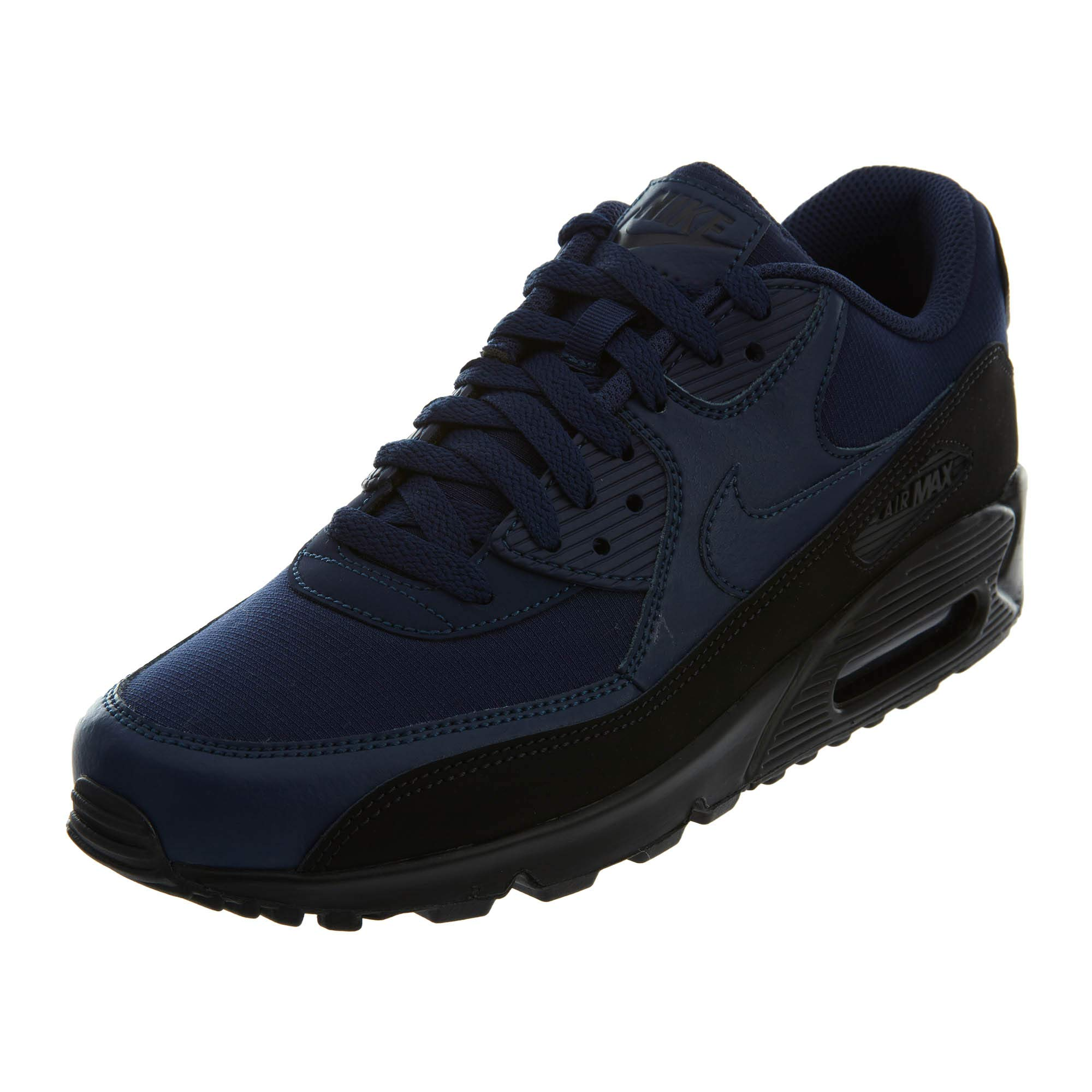 8f1d244929 Galleon - Nike Mens Air Max 90 Essential Running Shoes Black/Midnight Navy  AJ1285-007 Size 12