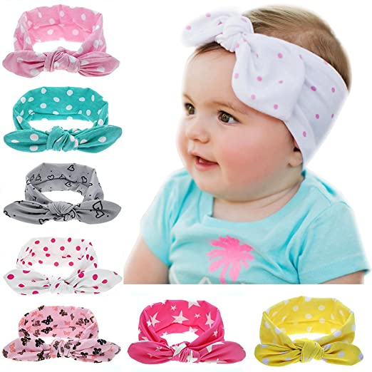 2019 Latest Design Baby Girls Bunny Bows Kids Floral Cotton Turban Knot Rabbit Headband Bow Hair Bands Head Wrap Accessories Girls' Baby Clothing