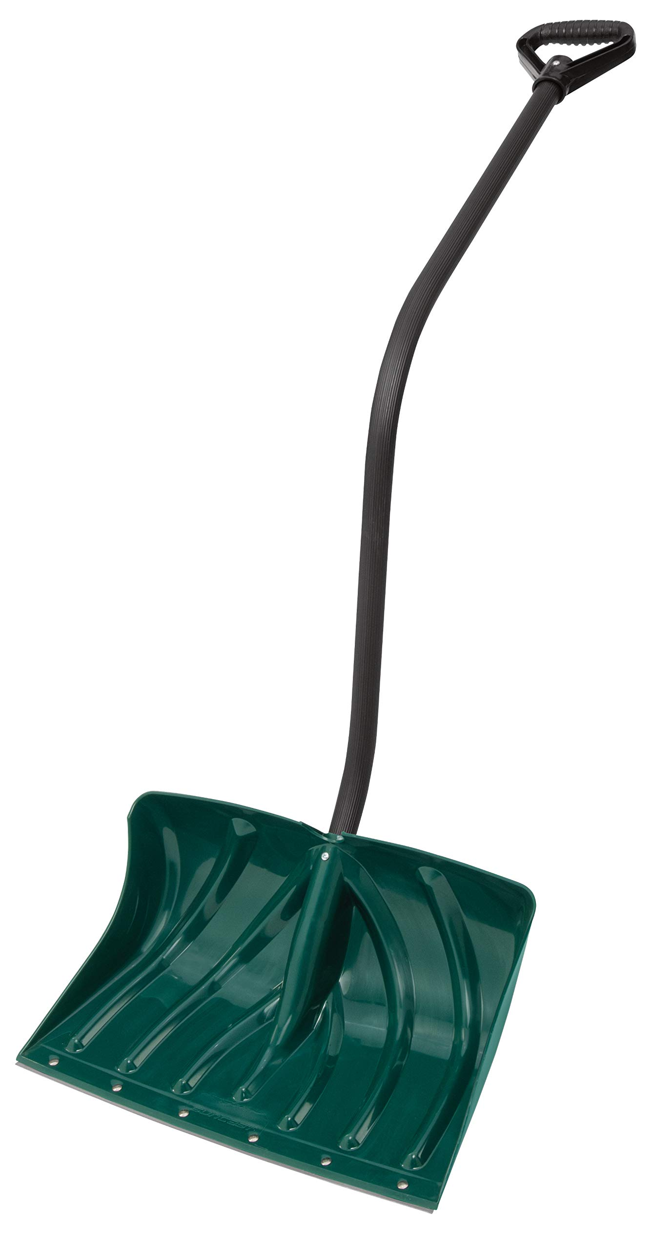 Suncast SC3250 18-Inch Snow Shovel/Pusher Combo with Ergonomic Shaped Handle And Wear Strip, Green by Suncast