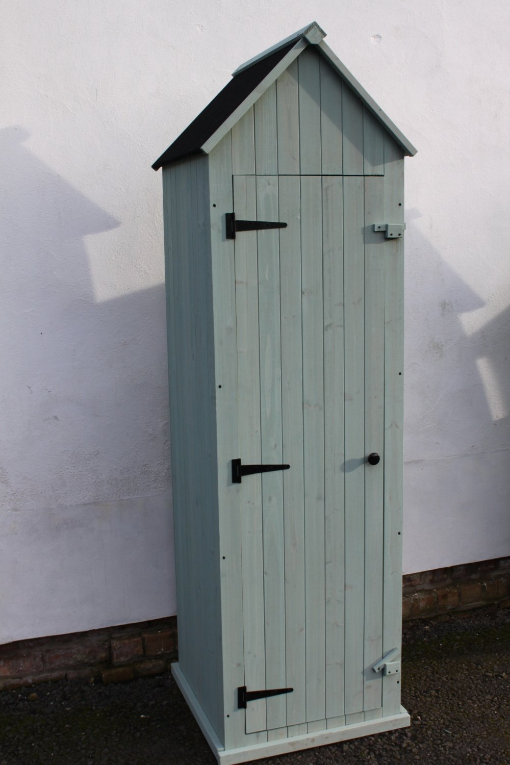 Outdoor Large Brighton Garden Wooden Storage Cabinet or Tool Shed In Blue/Green Garden Market Place