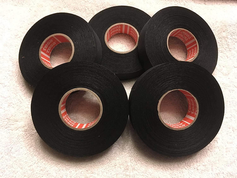 Tesa tape 51036 adhesive cloth fabric wiring loom harness 9mmx25m 19mmx25m  Yf