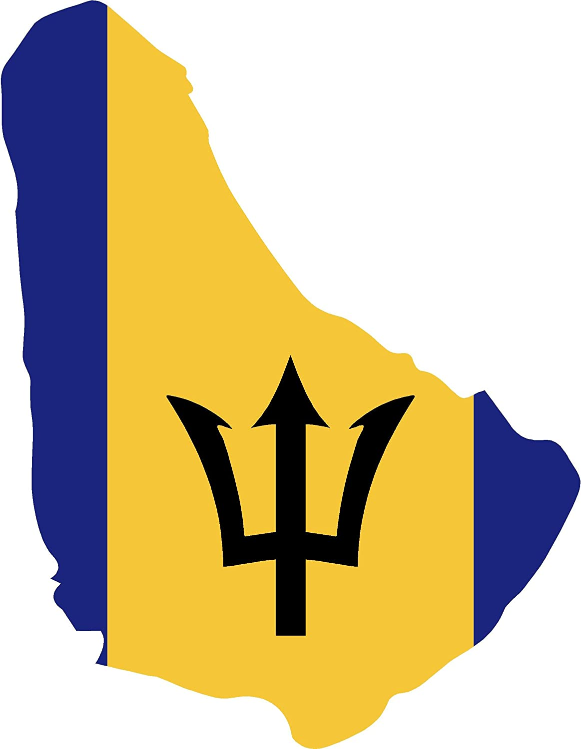 Map with Flag Inside Barbados 4x5 Sticker Decal die Cut Vinyl - Made and Shipped in USA