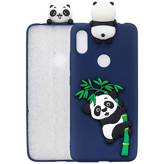 Amazon com: SHUNDA Xiaomi Redmi Y2 Case, Cute Panda 3D Matte