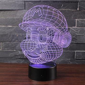 3D Optische Illusions-Lampen NHsunray LED 7 Farben Touch-Schalter /Ändern Nachtlicht F/ür Schlafzimmer Home Decoration Hochzeit Geburtstag Weihnachten Valentine Geschenk Romantische Atmosph/äre