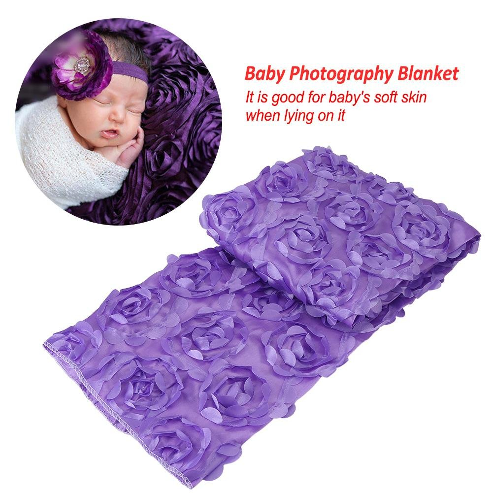 Purple Newborn Soft Wrap Infant Toddler Sleeping Swaddle Blanket for Baby Photography Photo Prop