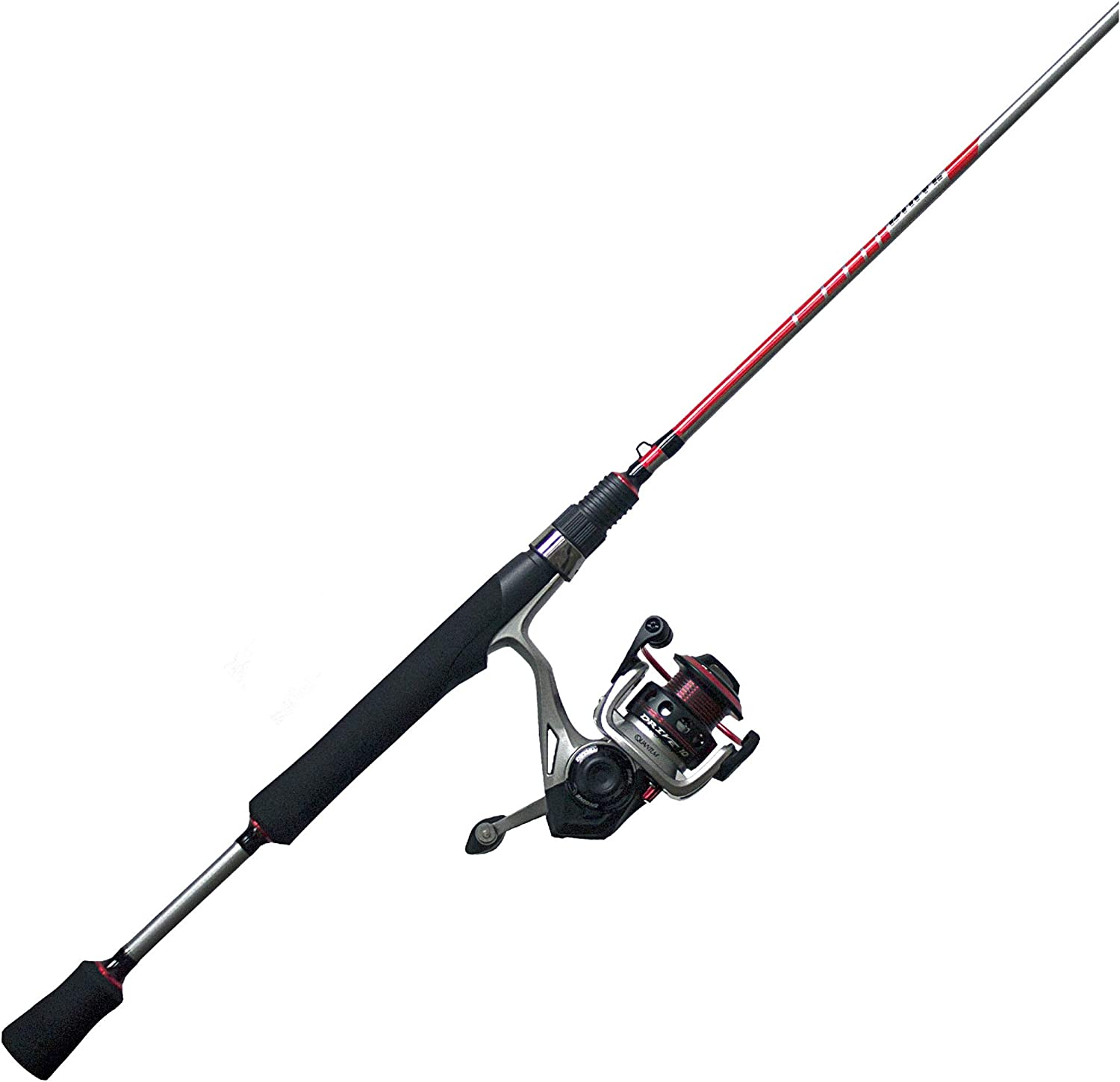 Quantum Drive Spinning Reel and 2-Piece Fishing Rod Combo