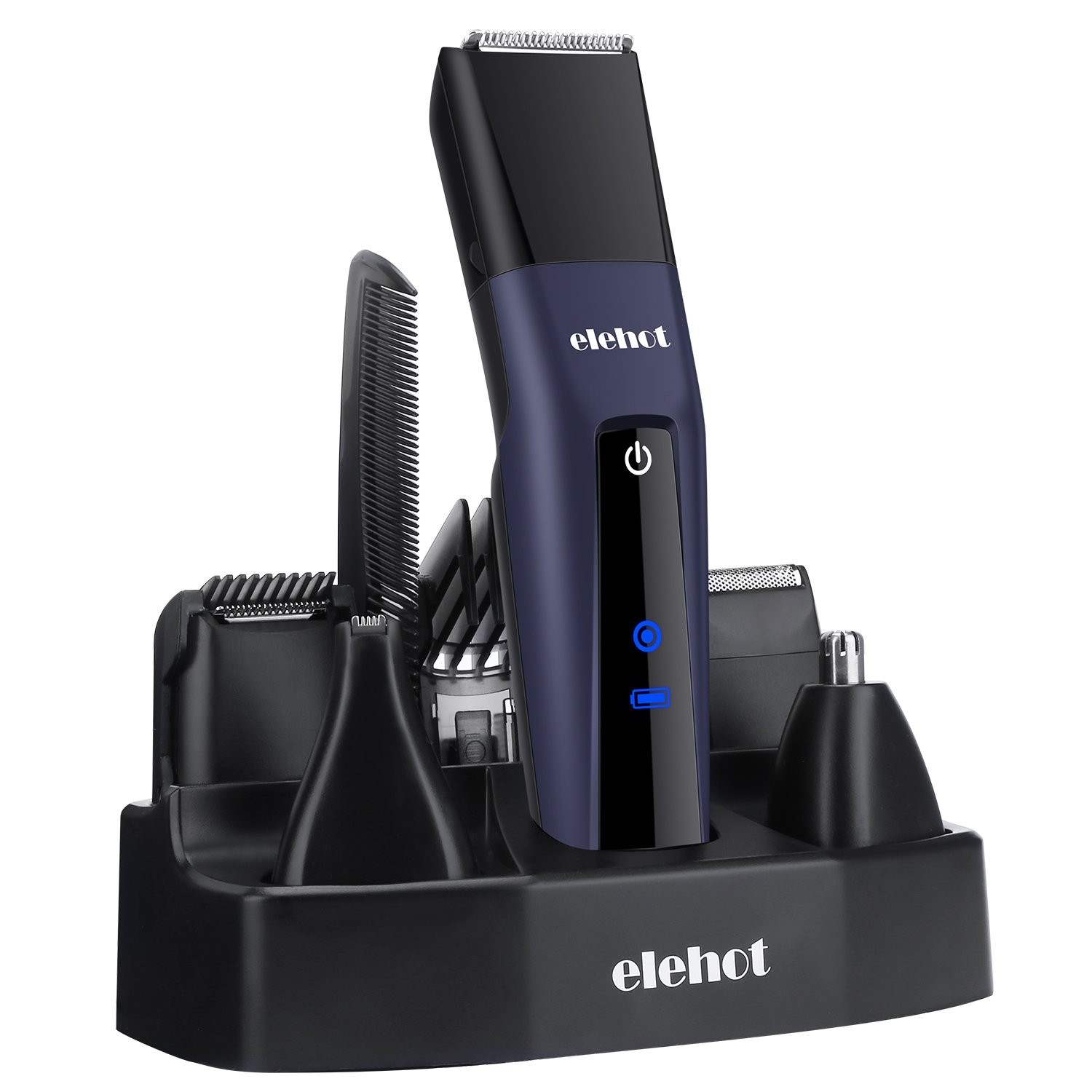 ELEHOT Hair Clipper Trimmer 5 in 1 Multifunctional Beard Grooming& Trimmer Kit with LCD Display, Replaceable Electric Shaver & Trimmer Heads for Men ELEHOT Direct