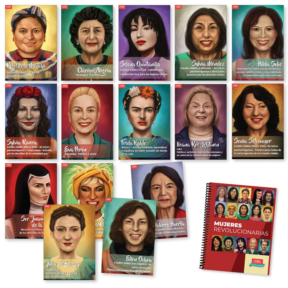 Mujeres revolucionarias Book and Poster Set Bundle by Teacher's Discovery
