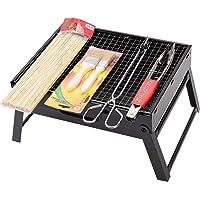 Gril Pliant en Acier Inoxydable Gril /à feu de Camp Support pour la randonn/ée la randonn/ée Les Pique-niques la p/êche LIOOBO Barbecue Portable